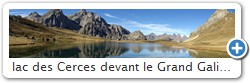 lac des Cerces devant le Grand Galibier